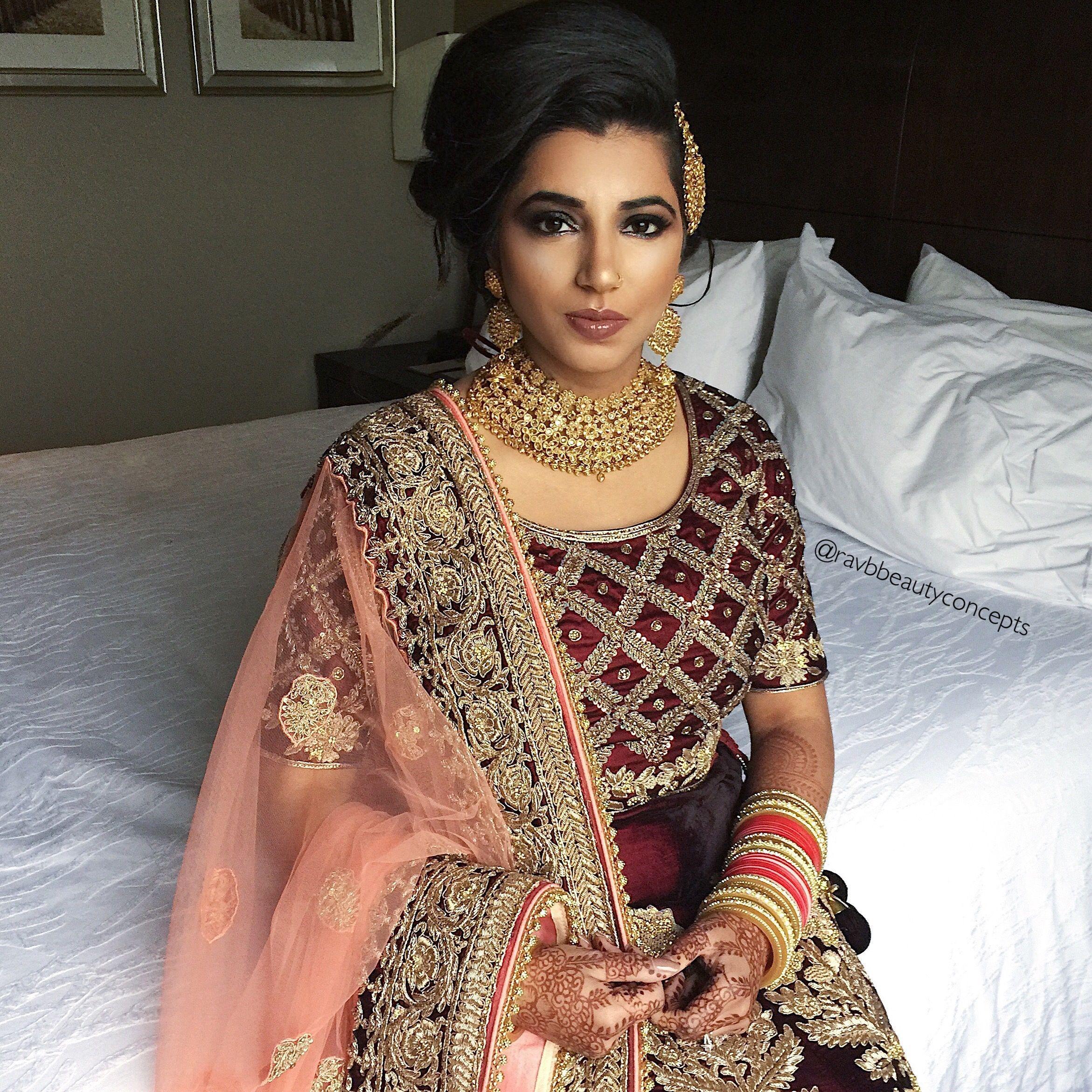 indian bridal makeup, indian bridal hair, bridal makeup