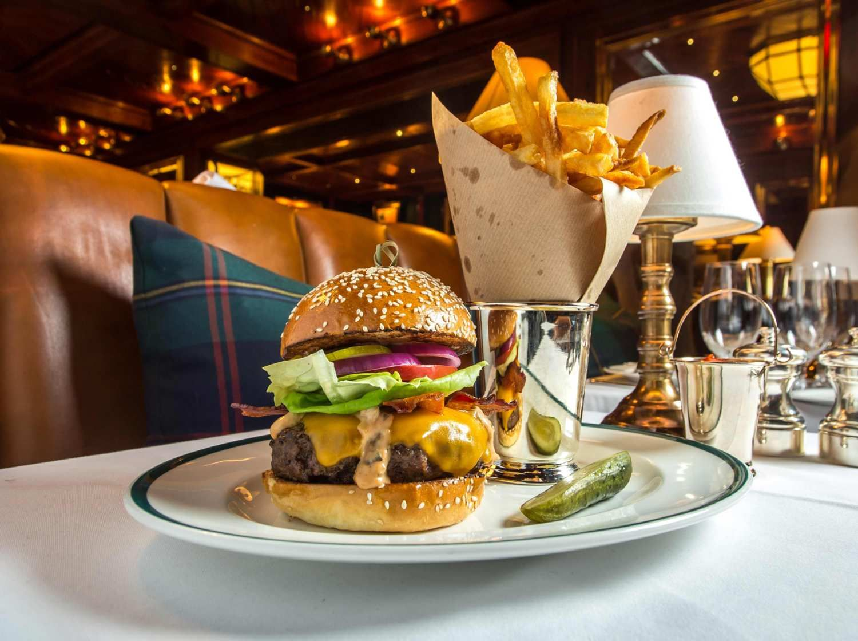 A burger isn't just a burger at RL Restaurant! Polo bar