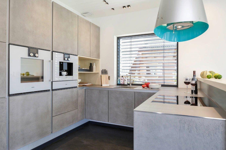 Abwaschbare Farbe Statt Fliesen Küche  Küche beton, Offene küche