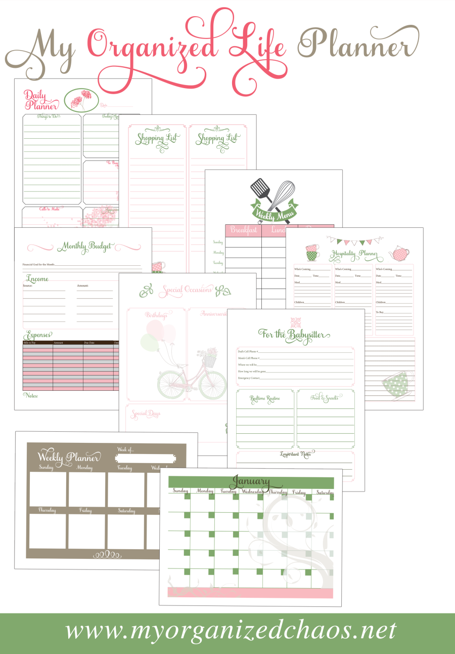 Adorable image for free printable organizing sheets