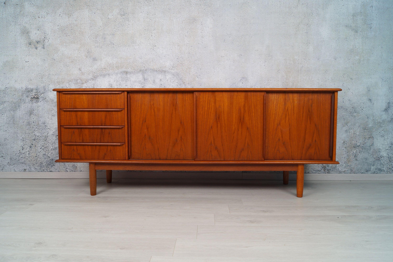 Danish Design Teak Sideboard Kommode Midcentury Vintage 1960er Teak Sideboard Design