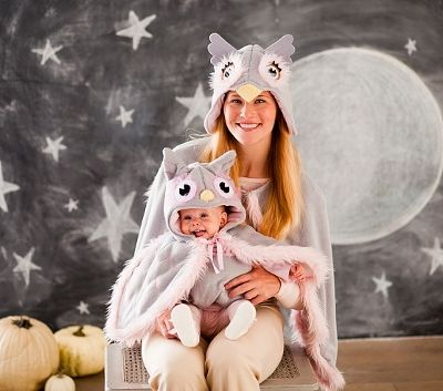 family halloween costume ideas mom and baby owl - Baby Owl Halloween Costumes