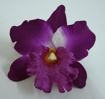 purple orchid hair pin