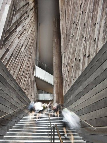 Fantastic Interior Shot - School of the Arts / WOHA in Singapore via Arch Daily.