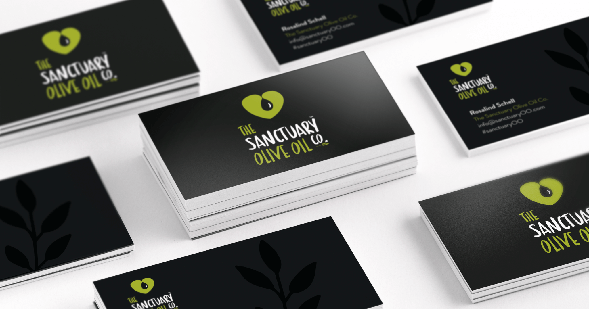 The Sanctuary Olive Oil Co. business cards by KidDotCo | business ...