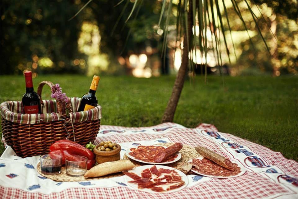 Доброе открытку, открытка на пикник