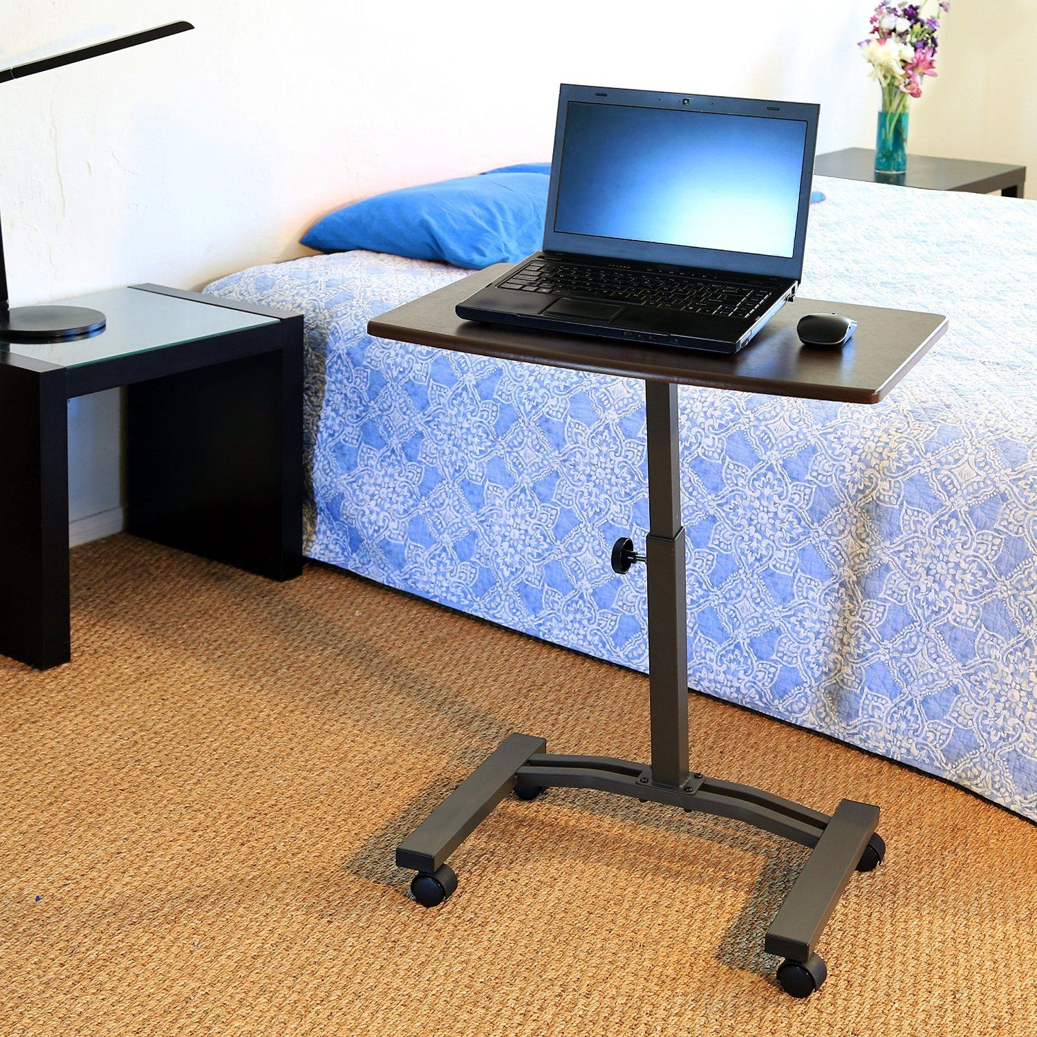 Seville Classics Mobile Laptop Desk Cart Details Can Be Found By Clicking On The Image This Is An Adjustable Computer Desk Cheap Computer Desk Laptop Desk