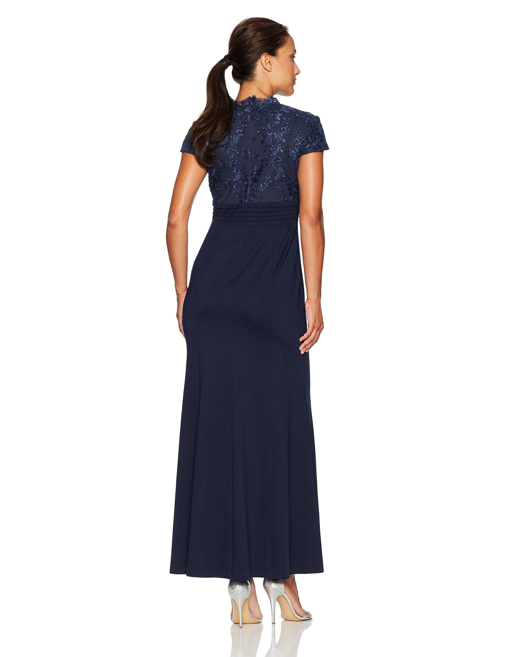 589e6e8042ad4 Alex Evenings Womens Petite Embroidered Bodice Dress with Fit and Flare  Skirt Regular Sizes Navy 12P * Find out more about the great product at the  image ...