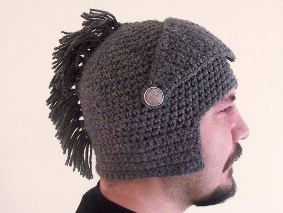 Knight Helmet Crochet Pattern Free | Crochet Spartan Knight Helmet ...