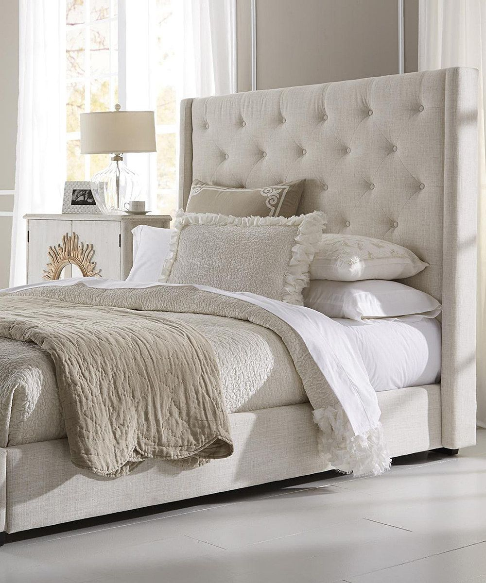 Look at this Contemporary Upholstered Queen Bed on zulily