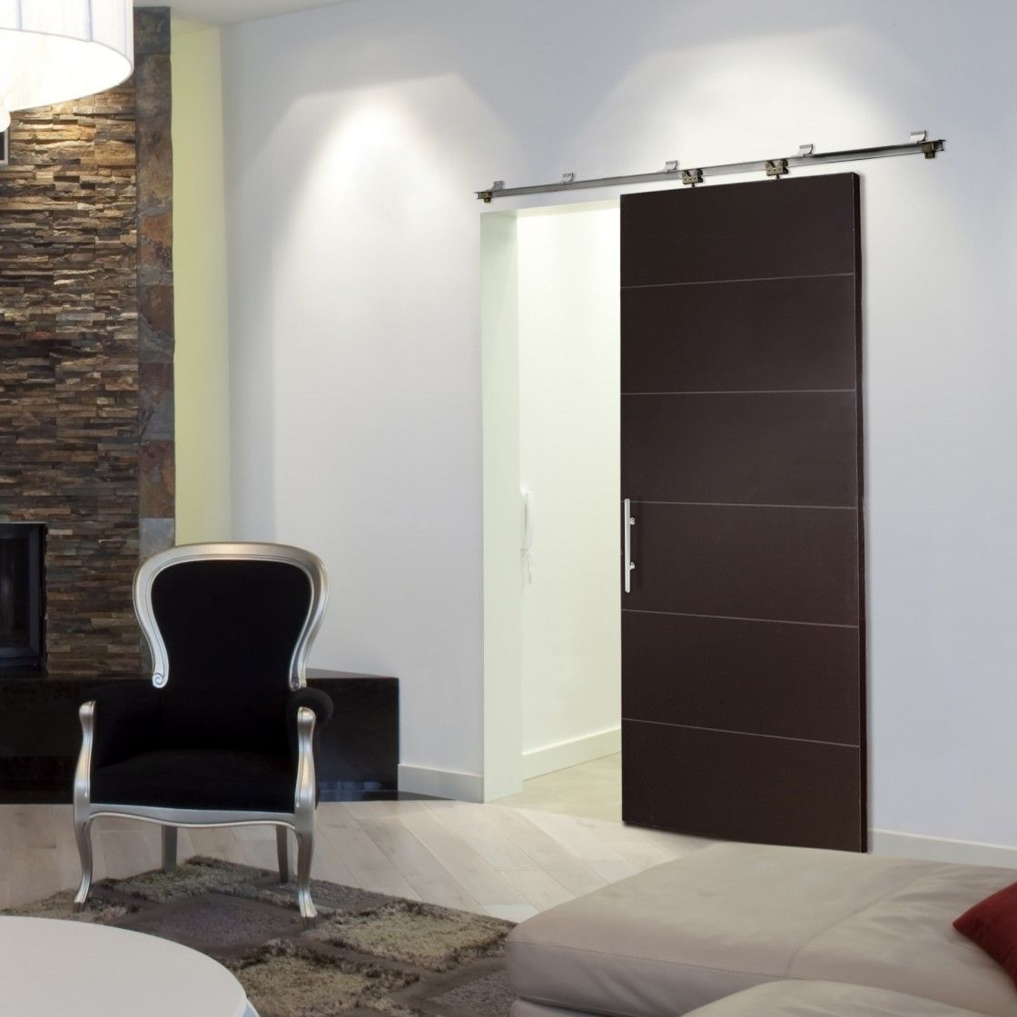 Sliding Walls Residential Winsome Brown Wall Interior Glass Doors Design With Black Chair In White Bedroom Installing Internal Door of Awesome Wall Sliding Doors Interior To Beautify Your Home from Furniture Ideas