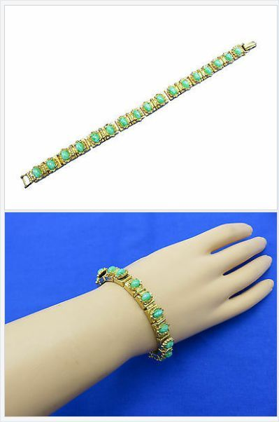 Show up and show out in stylish accessories at your next big event. Green lucite nuggets and golden chain links come together creating a fashion forward beautiful bracelet perfect for that occasion.  http://stores.ebay.com/Stuff4Uand4U