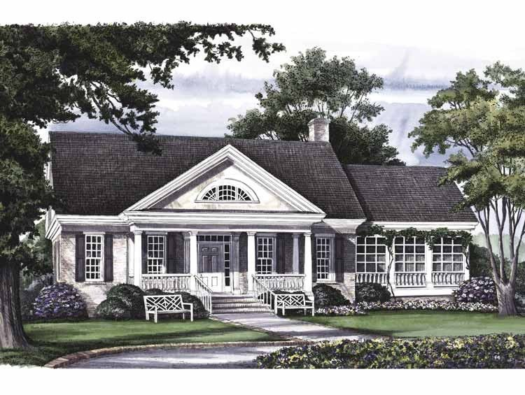 Greek Revival Floor Plans: Greek Revival House Plan With 2630 Square Feet And 3