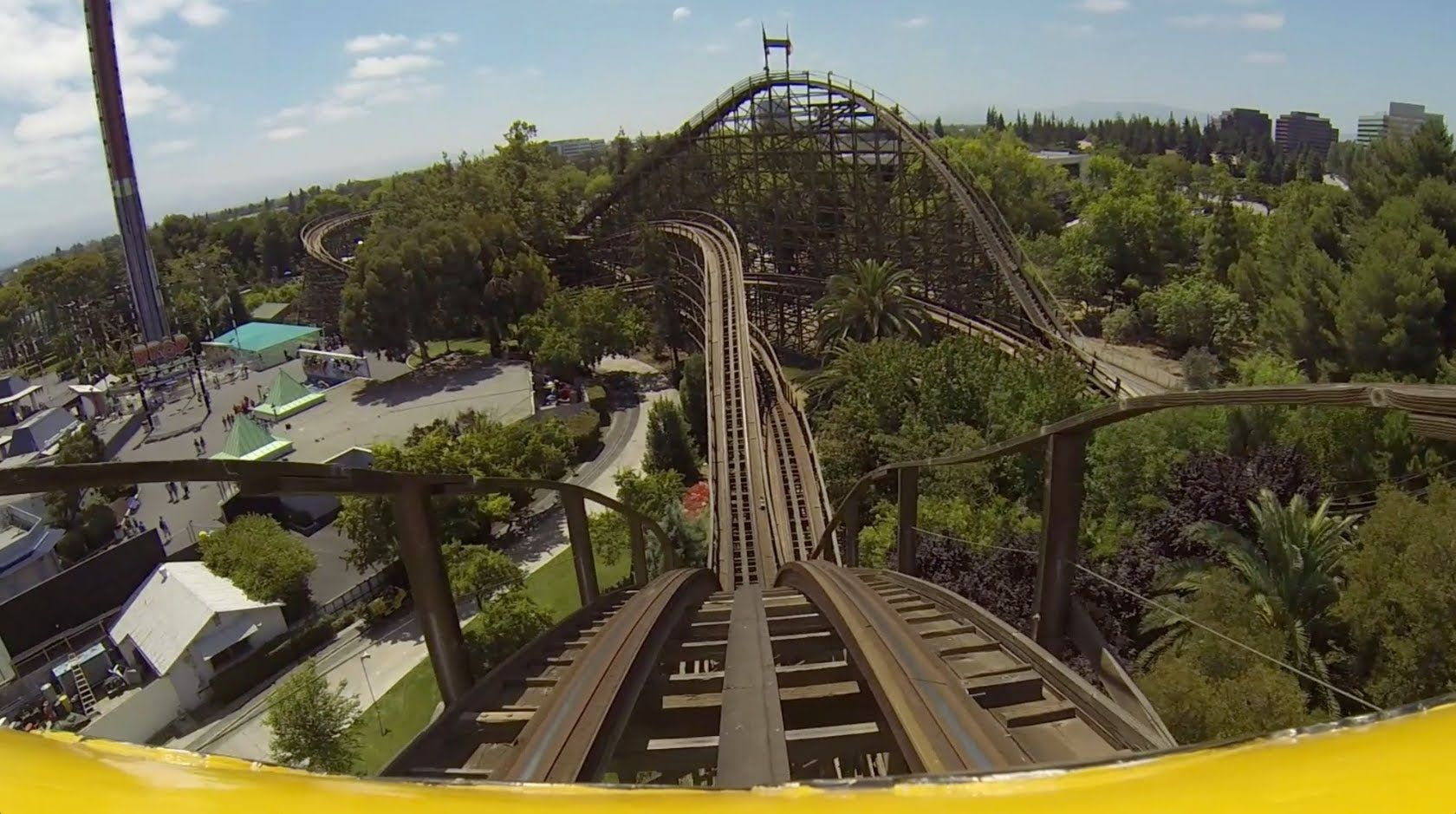 roller, coaster, video, Grizzly Roller Coaster Worst Wooden Coaster ...