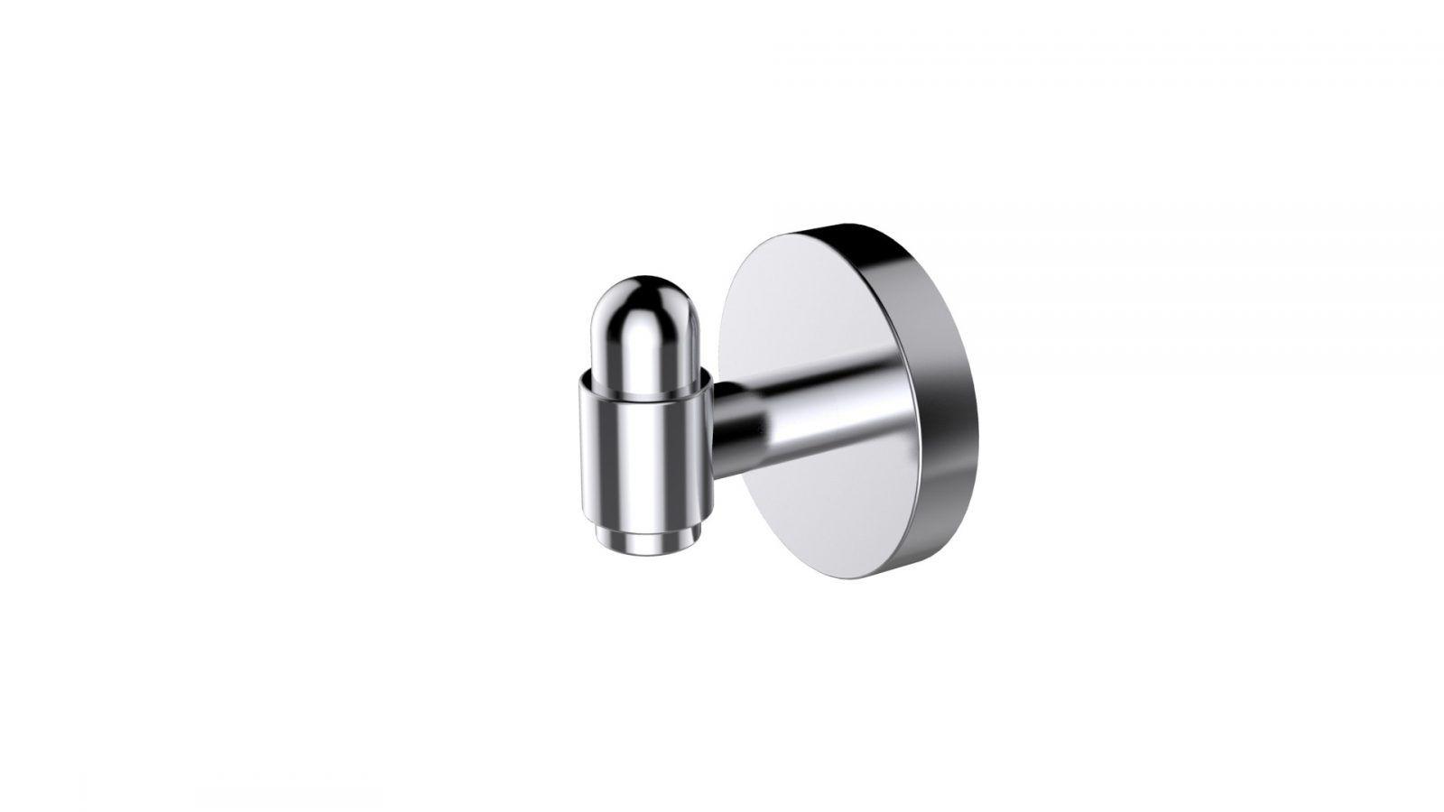 Eviva Bullet Towel Or Robe Hook Round Design Brushed Nickel