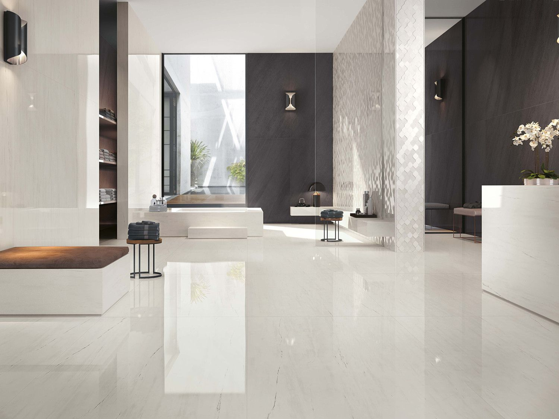 Use Our Large Format Tiles To Create An Elegantly Stylish Look Larger Tiles Instil Smoot Bathroom Tile Designs Polished Porcelain Tiles Tile Floor Living Room
