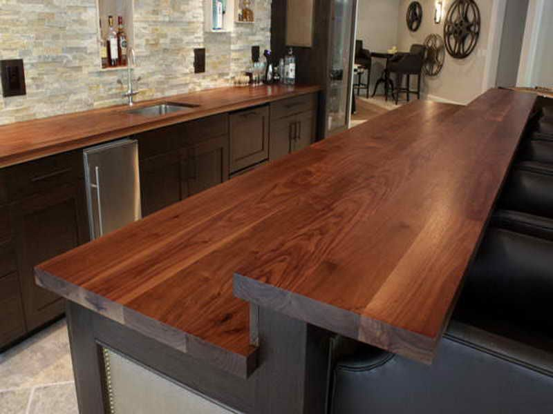 Double Decker Wooden Countertop Outdoor Kitchen Countertops