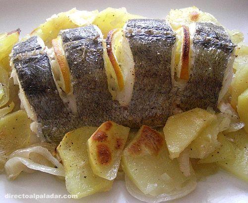 Merluza al horno receta cocina pescado pinterest - Cocinar merluza al horno ...