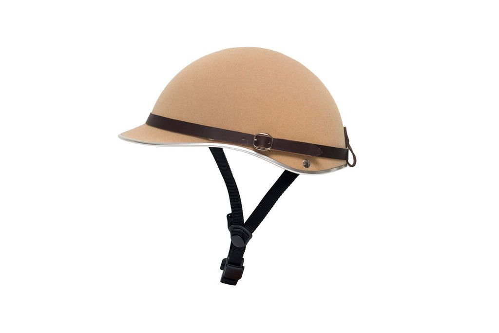 Dashel Helmets - Camel Moleskin Finish. Made in England