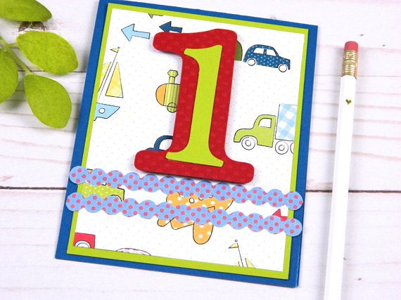 1st Birthday Card First Birthday Boy Happy Birthday Cards Cars