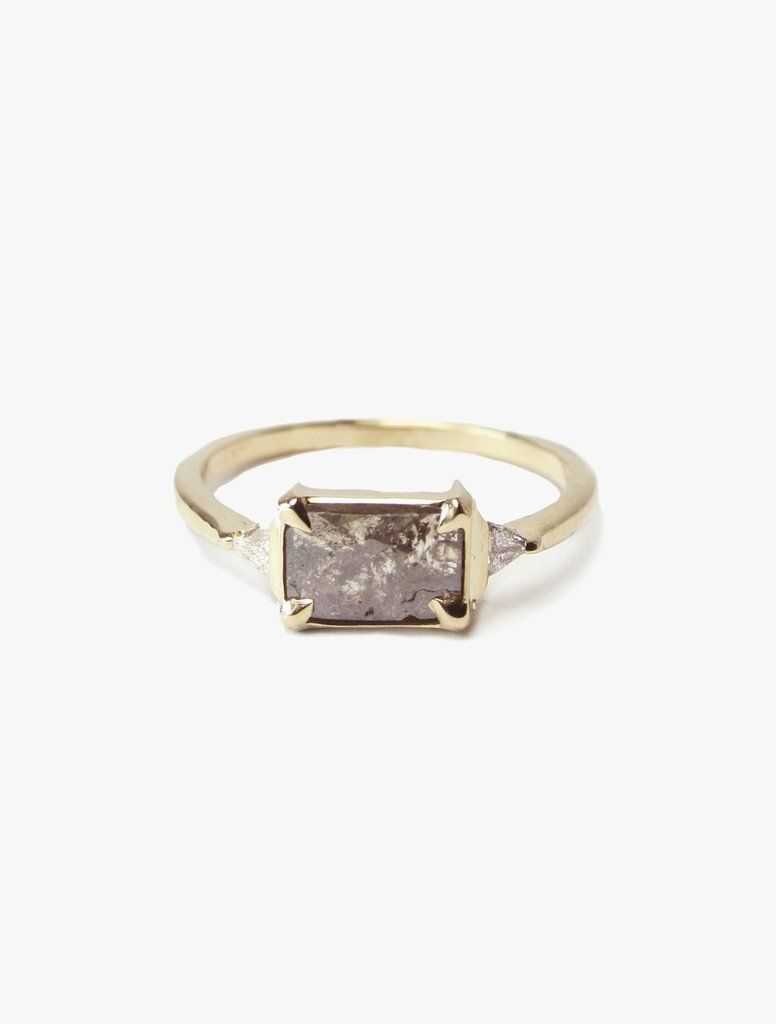 ec3a8abb914a2 Grey Diamond Slice Ring with Trillions in 2019 | Jewellery | Diamond ...