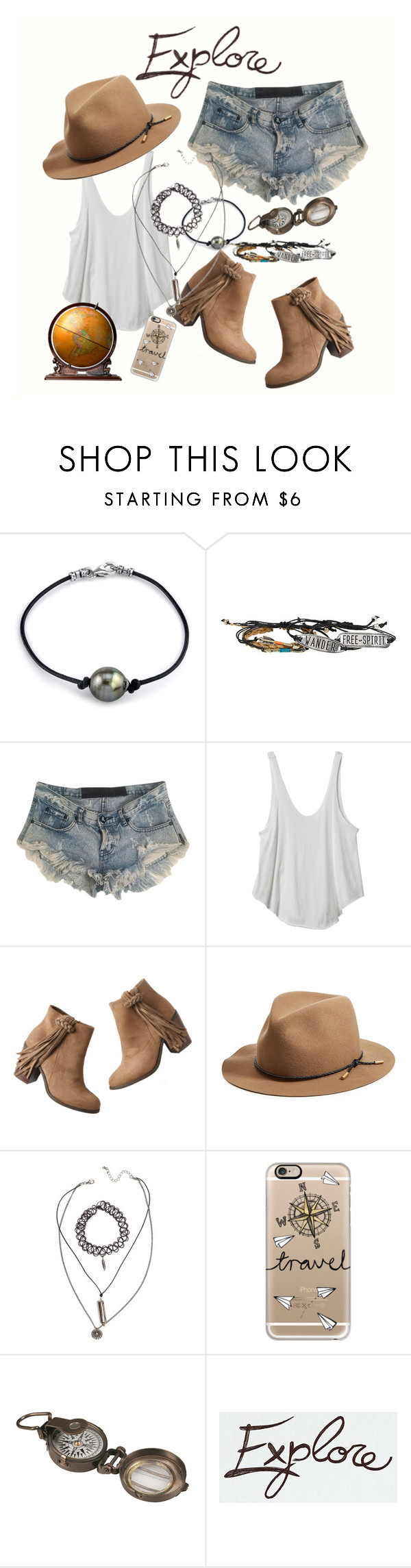"""Explore."" by jeehewson ❤ liked on Polyvore featuring One Teaspoon, RVCA, maurices, rag & bone, Casetify and Dot & Bo"