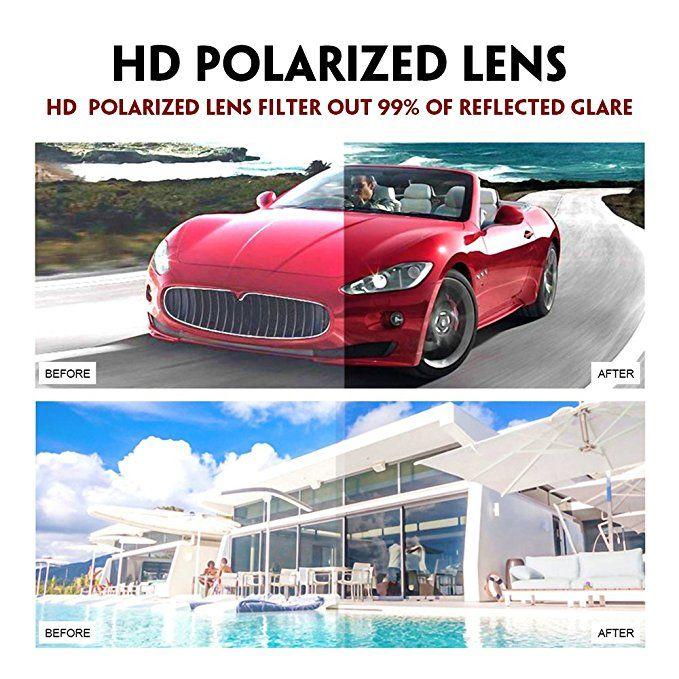 8b3d3cf637 Amazon.com  WELUK Fashion Polarized Rimless Cateye Sunglasses Oversized  Color Tinted Black  Clothing