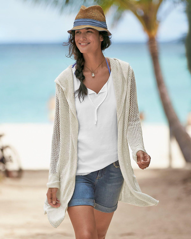 Beachside Hooded Cardigan | Eddie Bauer | Clothes | Pinterest ...