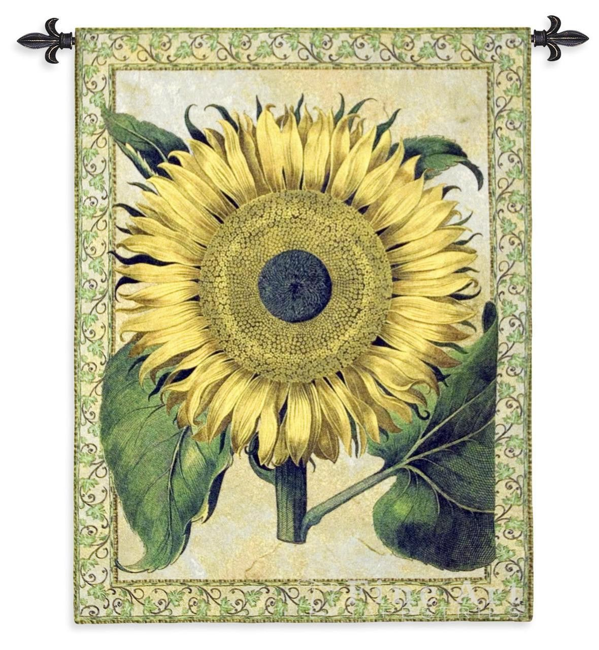 Big Bright Sunflower Art Tapestry Wall Hanging | Art, Tapestry wall ...