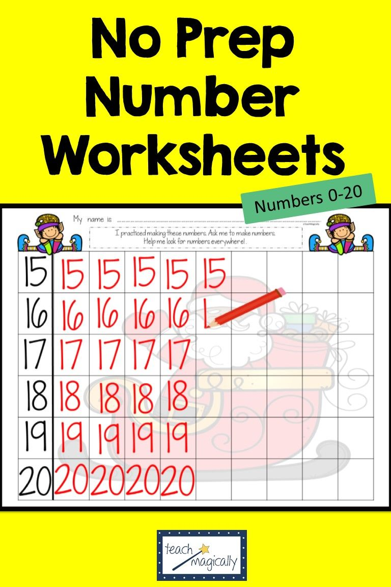 Math Number Writing Practice 1 20 Worksheets Christmas No Prep Number Writing Practice Writing Practice Number Writing Worksheets [ 1152 x 768 Pixel ]