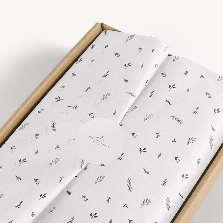 Seidenpapier Design, Geschenkpapier, Branding Stationery, Seidenpapierverpackung ...  #brandi... #soappackaging