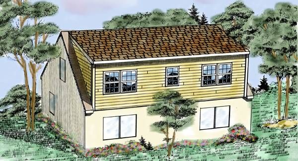 This approximately 440 square foot plan provides two new large ...
