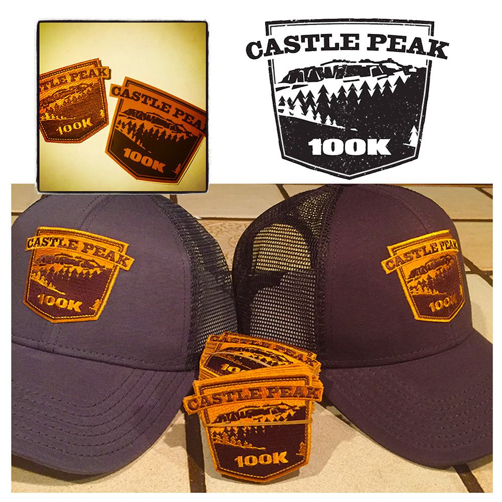Sasway Illustration / I Spy Fred Design || Donner Party Mountain Runners 2015 Castle Peak 100K Event Logotype for Patched Badges & Stickers