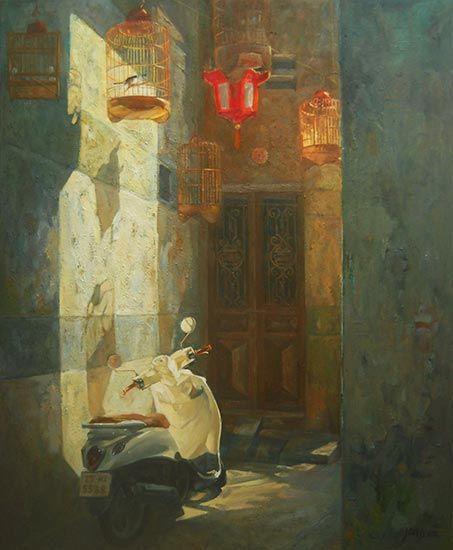 Artist Dang Hiep Vietnamese 1988 Born In Ha Noi Vietnam Medium Vietnamese Oil Painting On Canvas Qu Painting Oil Painting On Canvas Canvas Painting
