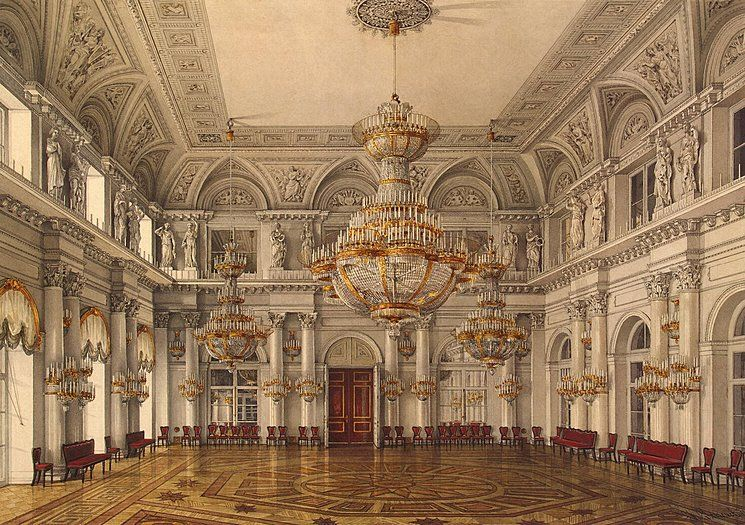 Interiors Of The Winter Palace The Concert Hall Konstantin Andreyevich Ukhtomsky Winter Palace Concert Hall Palace Interior