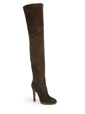 b7fad74a791 Giuseppe Zanotti Suede Over-The-Knee Platform Boots