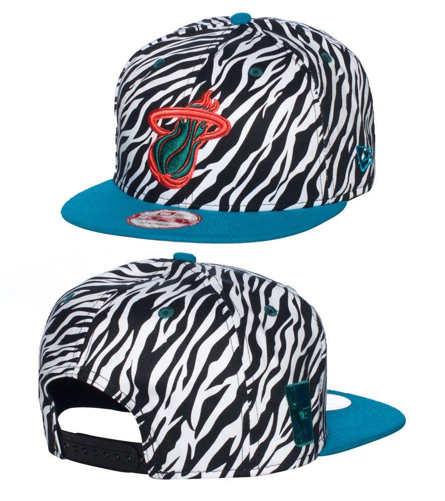 NEW ERA Miami Heat basketball snapback Adjustable strap on back Embroidered  team logo on front NEW E. e3c90c7419a