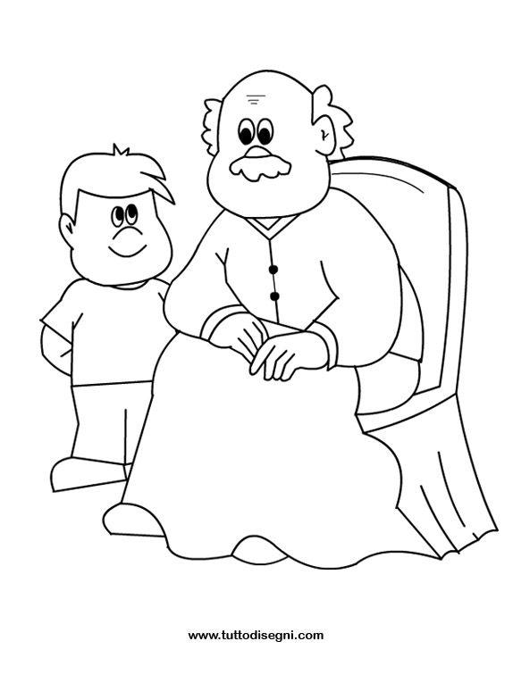 Nonno E Bambino Da Colorare Jpg 574 765 Pixels Coloring Pages School Events Grandparents Day