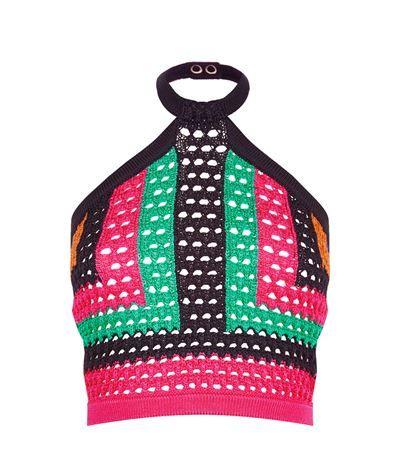 BALMAIN Macramé Halterneck Top. #balmain #cloth #