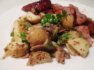 En verden af smag!: Kartoffelsalat med Svampe og Sennepsvinaigrette