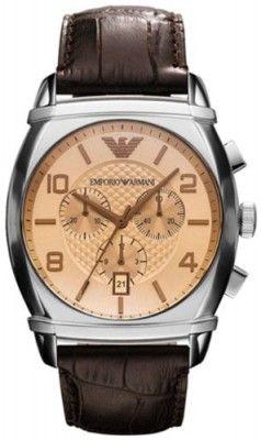28e485a381d5a Relógio Emporio Armani Classic Chronograph Amber Dial Mens Watch AR0348   Relogio  EmporioArmani