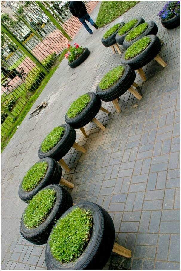 explore tire garden eco garden and more using old tyres