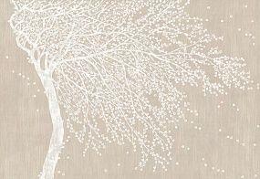 Фреска и фотообои, дерево на ветру   Фрески, Фотообои, Картины