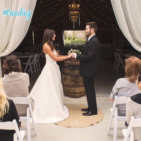 #Trending: Personalized Keepsake Wedding Vow Rug