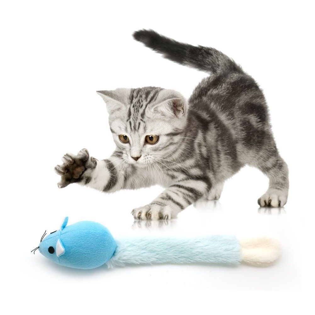Stock Show 1pc Pet Cat Long Tail Mouse Toy With Catnip Plush Catmint Mice Teaser Interactive Playtoy For Kitty Kitten Blue To View Fu Cats Pets Cats Kitten