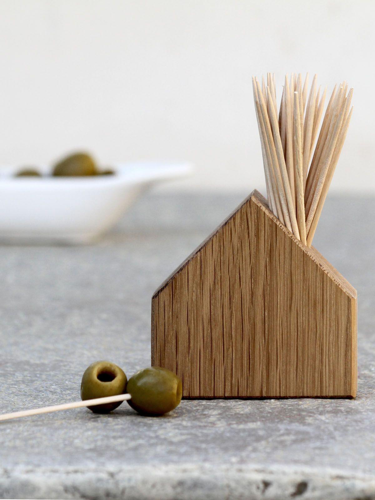 Oak Match & Cocktail Stick House