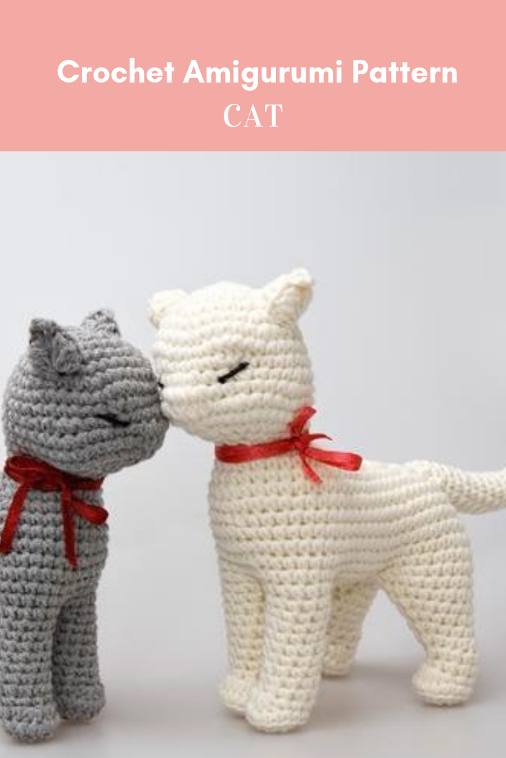 Cat amigurumi pattern seamless crocheted kitten instructions baby