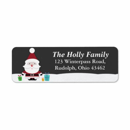 Santa Christmas Return Mailing Label Custom Color Labels