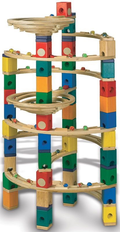 Marble Game Blocks : Woodwork wooden marble run have this set but needneedneed