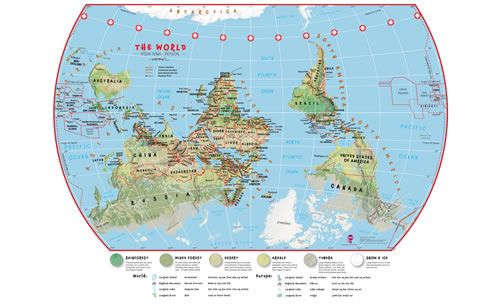World map from southern hemisphere perspective who says north is world map from southern hemisphere perspective who says north is north and south is south maybe we whirl around this way most of the time pinterest gumiabroncs Image collections